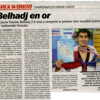 Yassine Belhadj  champion du Monde junior